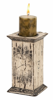 27315 Wood Candle Holder �Low Cost Addition To Existing Decor Brand Woodland