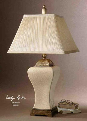 27728 Ivan Table Lamp: Antiqued Champagne Details Makes It Unique Brand Uttermost