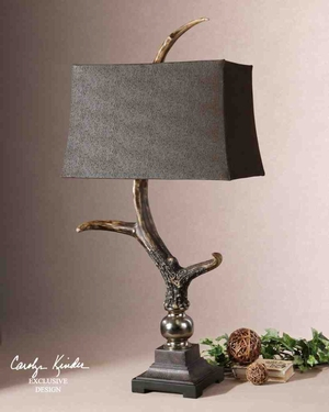 27960 Stag Horn Dark Shade: Not Less Than A Decorative Sculpture Brand Uttermost