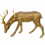 "28"" Grazing Deer Statue by Alpine Corp"