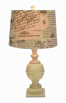 "28""H Attractive Resin Table Lamp with Electrical Fittings Brand Woodland"