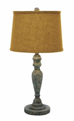 "28""H Classic Sturdy Wooden Table Lamp with Stable Base Design Brand Woodland"