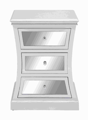 "28""H Wood Mirror Cabinet with attractive Curved accents  by Benzara"