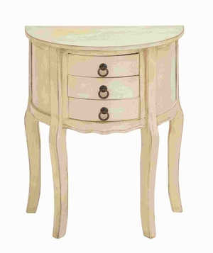"28""H Wood Night Stand in off White Shade and Smooth Finish Brand Woodland"