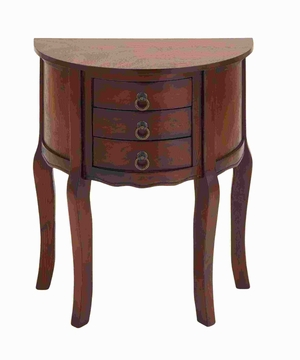 "28""H Wood Night Stand with Wood Brown Shade & Useful Drawer Front Brand Woodland"