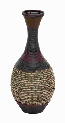 "28""H Wood Polyresin Vase with Exclusive Eye Catchy Design Brand Woodland"