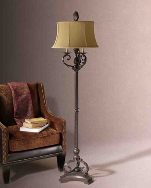 28871Hope Floor Lamp: Golden Brown-Black Finish Makes It Exotic Brand Uttermost