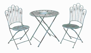 """29""""H Metal Bistro Modern or Conventional Style (Set of 3) Brand Woodland"""