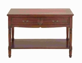 "29""H Wood Console in Brown Color with High Glossy Lacquer Brand Woodland"