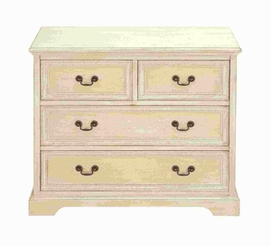 "29""H Wood Dresser with Stylish Brass Handles on The Drawers Brand Woodland"