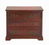"29""H Wood Dresser with Two Double Drawers and Two Single Drawers Brand Woodland"