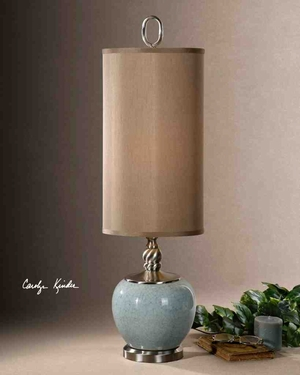 29279-1 LILIA Table Lamp: Apple Shape Ceramic Base Makes It Special Brand Uttermost