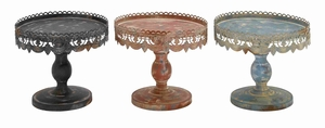 3 Assorted Traditional Style Metal Stand in Black Metal Finish Brand Woodland