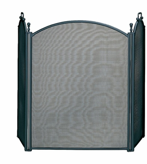 3 Fold Large Diameter Black Screen w/ Woven Mesh