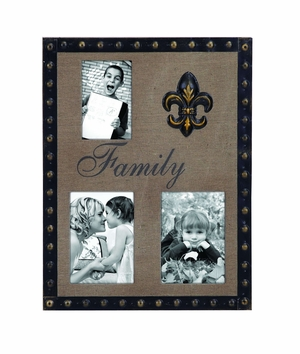 3 Picture Photo Frame With Inspirational Family Message Brand Woodland