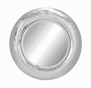 """30""""D Unique Circular Metal Frame Mirror with Glossy Finish Brand Woodland"""