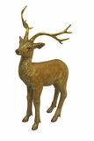 "30"" Deer Statue - Gold by Alpine Corp"