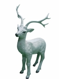 "30"" Deer Statue - White by Alpine Corp"