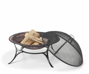 "30"" Medium Fire Pit with Spark Screen by Good Directions"