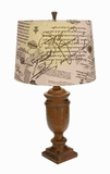 "30"" H Attractive Resin Table Lamp for Contemporary Decors Brand Woodland"