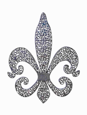 "30""H Metal Fleur Di Lis with Regal Touch and Sheer Elegance Brand Woodland"