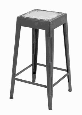 "30""H Metal White Bar Stool with Smooth Matte Black Finish Brand Woodland"