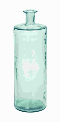 "30""H Stylish Glass Vase Cylindrical Shape with a Fluted Neck Brand Woodland"