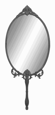 """30""""H Unique Metal Wall Mirror with Intricate Carved accents Brand Woodland"""