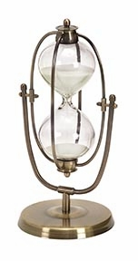 30 Minute Nautical Ship Sand Timer, Antique Metal Hour Glass Brand Woodland