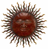"""30"""" the Rising Sun Classic Style Metal Wall Decor Sculpture Brand Woodland"""
