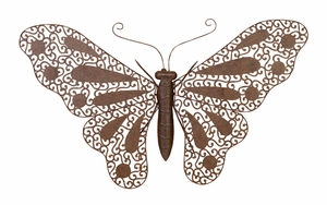 """31"""" Butterfly Milia Metal Wall Decor Sculpture with Detailing Brand Woodland"""