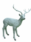 "31"" Deer Statue - White by Alpine Corp"