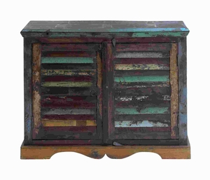 """32""""H Wood Chest with Twin Side-By-Side Doors with Wooden Stoppers Brand Woodland"""