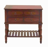 "32""H Wood Console in Mahogany Brown Shade with Smoothly Finish Brand Woodland"