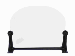 """33"""" H Metal Glass Fire Screen with Curvy Shaped Glass Shield Brand Woodland"""