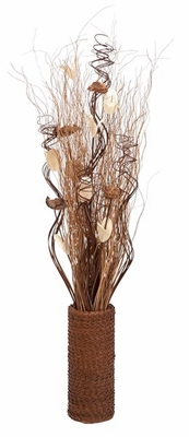 "34"" Dyed Floral Vase in Brown Finish with Modern Design Brand Woodland"