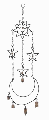 "34""H Beautifully Crafted High Quality Metal Wind Chime Hanger Brand Woodland"
