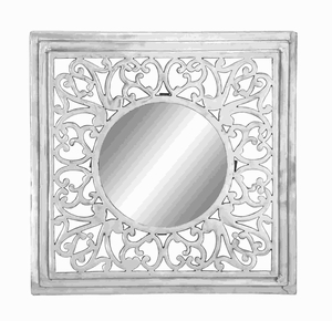 "34""H Unique Aluminium Wall Mirror with Smooth & Glossy Finish Brand Woodland"