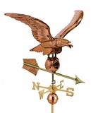 "34"" Smithsonian Eagle Estate Weathervane - Polished Copper by Good Directions"