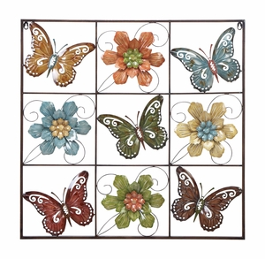 34758 Metal Wall Decor Butterflies Bring The Nature In Rooms Brand Woodland