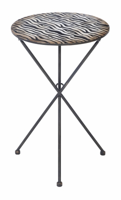 34779 Metal Accent Table � A Decor Item With Multiple Applications Brand Woodland