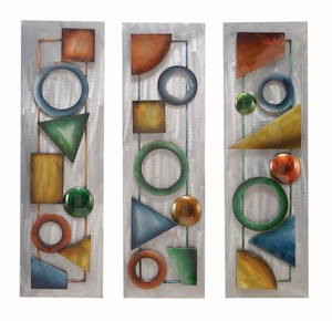 34800 Metal Wall Decor A Set Of 3 � Modern Way Of Decoration Brand Woodland