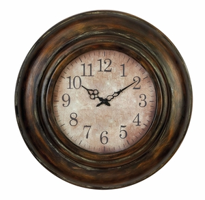 34805 Metal Wall Clock – Metal Wall Decor With Great Utility Brand Woodland