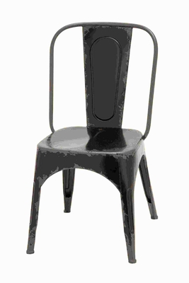"35""H Metal Chair in Classic Style Design with Glossy Brown Finish Brand Woodland"