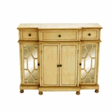 "35""H Wood Mirror Cabinet Lavished with a Rich Beige Color Brand Woodland"