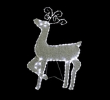 "35"" Standing Reindeer with 144 LED Lights Decoration by Alpine Corp"