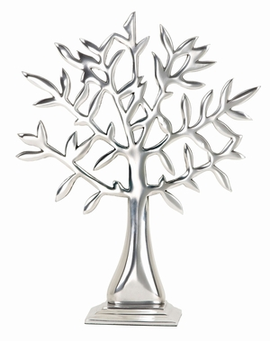 35255 Aluminum Tree Table Decor- Long Lasting Decor Add On Brand Woodland
