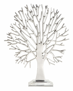 35256 Aluminum Tree Table Decor �Metal Decoration With Portability Brand Woodland