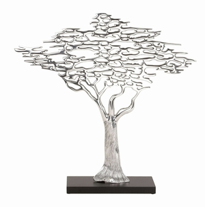 35257 Aluminum Tree Table Decor-Metal Decor With New Concept Brand Woodland