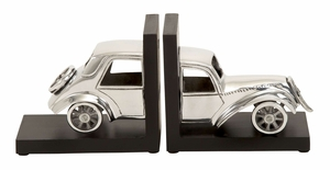 35260 Aluminum Bookend Set � Royal Looking Car Makes It Special Brand Woodland